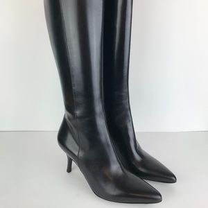 Cole Haan VITALIA Tall Black Leather Calf Boots